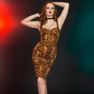 Tiger Varla Dress by Pinup Girl Clothing